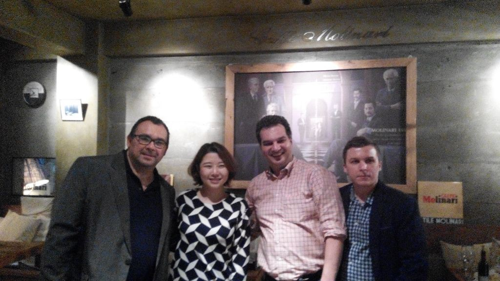 Private evening wine tasting with Franz Jaegersberger from JbN at Restaurant/Cafe Molinari in Seoul
